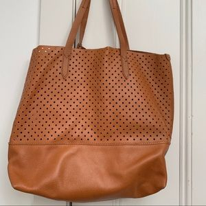 JCREW leather tote